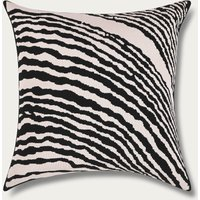 Off White Wood Block Square Cushion Cover