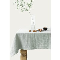 Agate Grey Washed Linen Tablecloth
