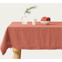 Apricot Washed Linen Tablecloth