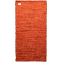 Solar Orange Cotton Rug