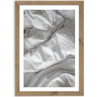 A Perfect Day in Bed Art Print Oak Frame