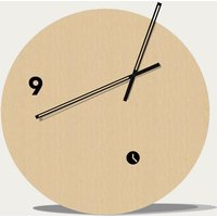 Beech Wood Finished Slice Table Clock