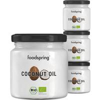 Foodspring Bio Kokosöl im 4er Beauty Paket Für Gesicht Körper und Haar              Produktbild