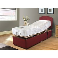 Sleepeezee Cool Comfort Memory Adjustable Divan Set - No Storage, Adjustable Single (90cm x 200cm), Sleepeezee_Weave Wheat