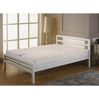 Alba City Block White Bed Frame - King Size