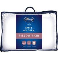Silentnight Soft As Silk Pillow Twin Pack - Pillow