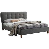 Birlea Stockholm Grey Upholstered Bed - Double