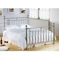 Time Living Chrome Alexander Bed Frame - King Size