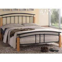 Time Living Black and Beech Tetras Bed Frame - Single