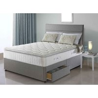 Sealy Nostromo Posturepedic Pocket 1400 Latex Divan Set - Single, 2 Drawers, Sealy_Dark Steel