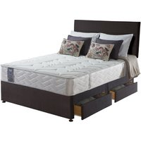 Sealy Posturepedic Jubilee Latex Divan Set - Super King, 4 Drawers, Sealy_Peat