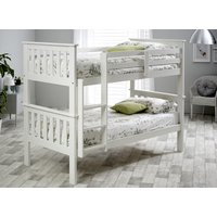 Bedmaster White Carra Bunk Bed - Single