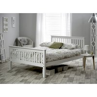 Bedmaster White Grace High Foot End Bed Frame - Small Double