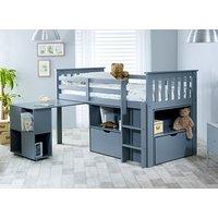 Bedmaster Grey Milo Desk Bed - Single