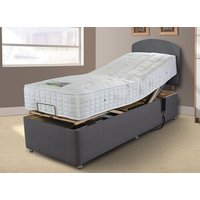 Sleepeezee Gel Comfort 1000 Adjustable Divan Set - No Storage, Adjustable Single (90cm x 200cm), Sleepeezee_Weave Wheat