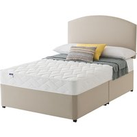 Silentnight Double Sided Miracoil Divan Set - Small Double, No Storage, Silentnight_Slate Grey