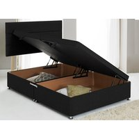 Premium Side Opening Ottoman Divan Base - Small Double, Hyder_Chenille Black