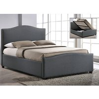 Time Living Grey Brunswick Ottoman Bed Frame - Double