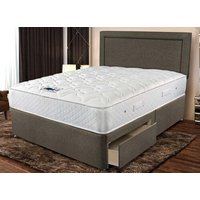 Sleepeezee Memory Comfort 800 Divan Bed Set - Small Double, 2+2 Continental Drawers, Taupe
