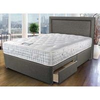 Sleepeezee Westminster 3000 Divan Bed Set - King Size, 2+2 Continental Drawers, Pewter