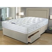 Sleepeezee Ultrafirm 1600 Pocket Divan Set - Double, Side Opening Ottoman, Sleepeezee_Joshua Latte
