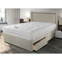 Sleepeezee Backcare Ultimate 2000 Pocket Divan Set - Double, Side Opening Ottoman, Sleepeezee_Joshua Latte
