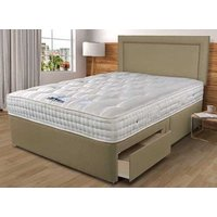 Sleepeezee Backcare Luxury 1400 Divan Bed Set - Super King, No Storage, Wheat