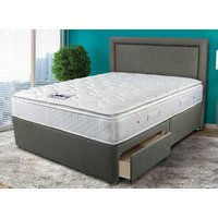 Sleepeezee Memory Comfort 1000 Divan Bed Set - Double, 4 Drawers, Pewter