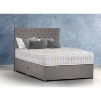 Sleepeezee Pure Grand Luxe 3000 Pocket Natural Divan Set - Single, Side Opening Ottoman, Sleepeezee_Joshua Latte