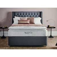 Sleepeezee PocketGel Poise 3200 Divan Set - Super King, Side Opening Ottoman, Sleepeezee_Joshua Latte