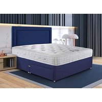 Sleepeezee Wool Supreme Divan Bed Set - Double, No Storage, Americano