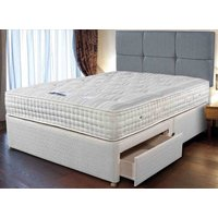 Sleepeezee Cashmere Royale Divan Bed Set - Double, 2 Drawers, Americano