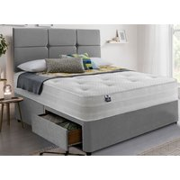 Silentnight Classic 1200 Pocket Deluxe Divan Set - Super King, No Storage, Silentnight_Slate Grey