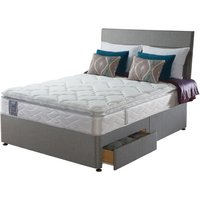 Sealy Posturepedic Pearl Luxury Divan Set - Double, 2+2 Continental Drawers, Sealy_Dark Steel
