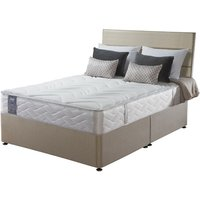 Sealy Posturepedic Pearl Memory Divan Set - Double, 4 Drawers, Sealy_Fawn