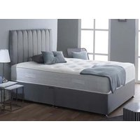 Spring King Pocket Tuscany 2000 Natural Divan Set - Small Single, No Storage, Hyder_Wool Latte