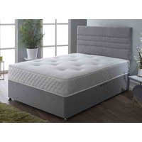 Seville Pocket Memory Plus 1000 Divan Set - Single, No Storage, Hyder_Wool Latte