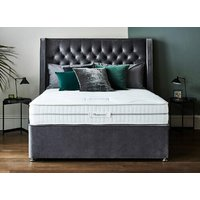 Sleepeezee Hybrid 2000 Pocket Divan Set - Double, Side Opening Ottoman, Sleepeezee_Joshua Latte
