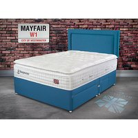 Sleepeezee Perfectly British Mayfair 3200 Divan Bed Set - Small Double, No Storage, Pewter