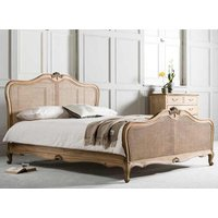 Frank Hudson Living Chic Weathered with Cane Detailing Bed Frame - King Size