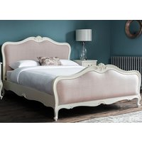 Frank Hudson Living Chic Vanilla with Fabric Detailing Bed Frame - Super King