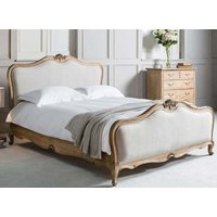Frank Hudson Living Chic Weathered with Fabric Detailing Bed Frame - King Size