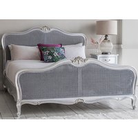 Frank Hudson Living Chic Silver with Cane Detailing Bed Frame - King Size