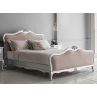 Frank Hudson Living Chic Silver with Fabric Detailing Bed Frame - King Size