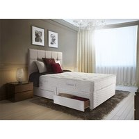 Sealy Posturepedic Millionaire Ortho Ultimate Divan Set - Double, 2+2 Continental Drawers, Sealy_Dark Steel