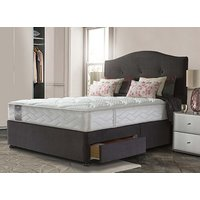 Sealy Posturepedic Millionaire Grand Luxe Divan Set - Double, 2+2 Continental Drawers, Sealy_Dark Steel