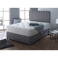 Madrid Pocket Superior 1000 Divan Set - Single, No Storage, Hyder_Wool Latte