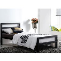 Time Living City Block Black Bed Frame - Double