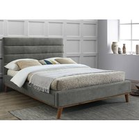 Time Living Mayfair Light Grey Bed Frame - Double