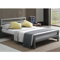 Time Living City Block Grey Bed Frame - King Size